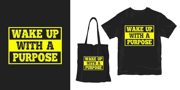 Motivationszitate typografie poster t-shirt merchandising design Premium Vektoren