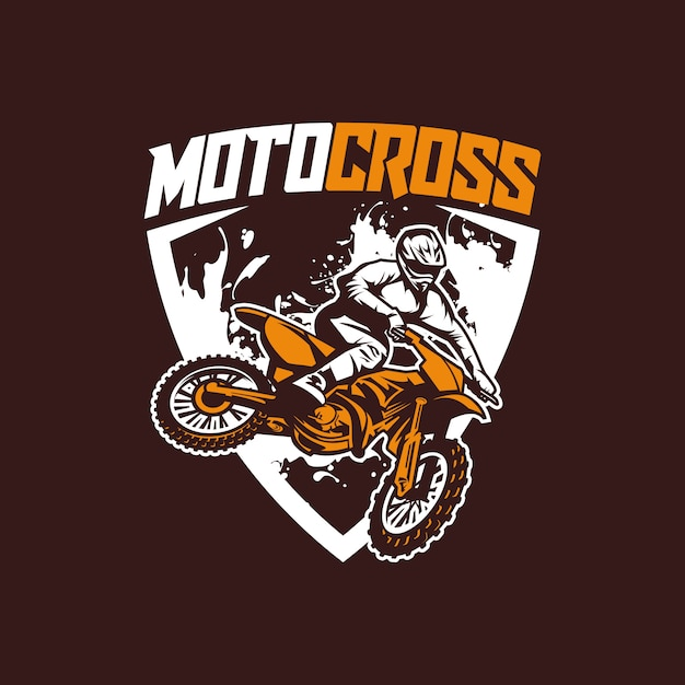 Moto-cross-logo-vektor Premium Vektoren