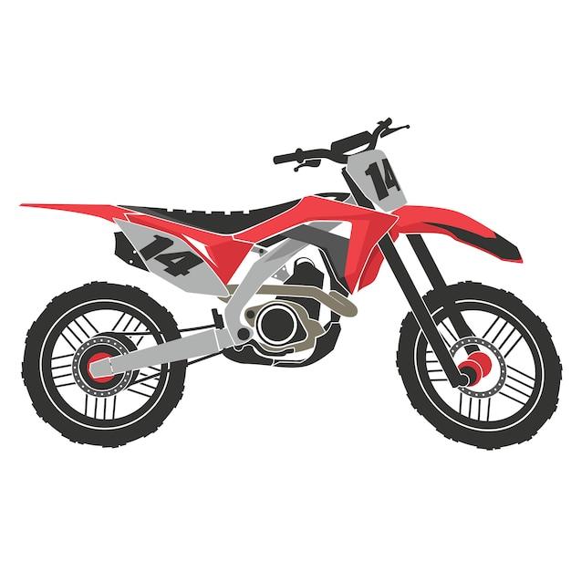 Motocross-extremsport. abenteuer auf dem rennrad Premium Vektoren