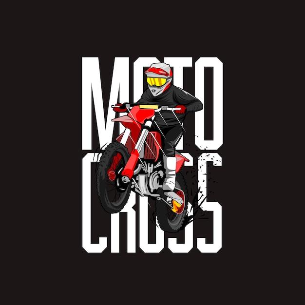 Motocross-fahrer-illustration Premium Vektoren