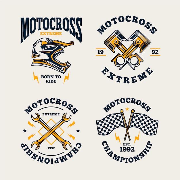 Motocross-logo-sammlung Kostenlosen Vektoren