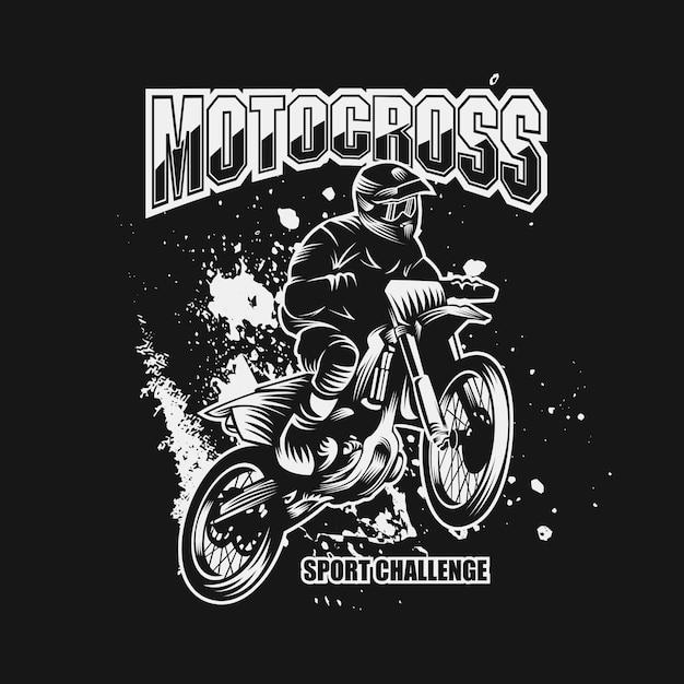 Motocross-sport herausforderung vektor-illustration Premium Vektoren