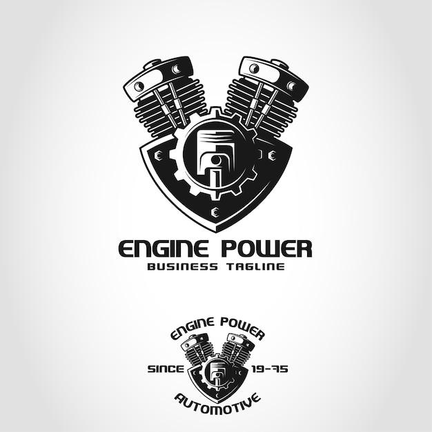 Motorleistung ist ein automotive-logo Premium Vektoren