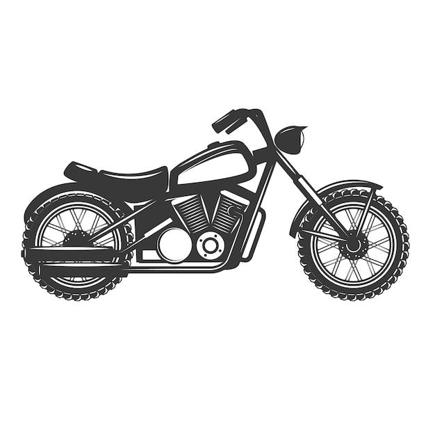 Motorrad auf weißem hintergrund. elemente für logo, etikett, emblem, zeichen, abzeichen. illustration Premium Vektoren