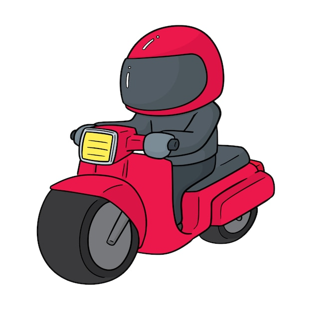 Motorrad fahren Premium Vektoren