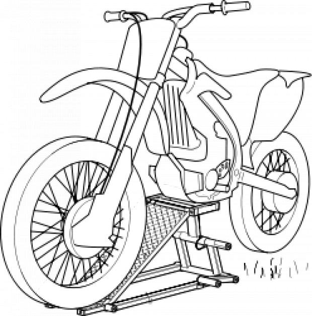 Motorrad heben | Download der kostenlosen Vektor