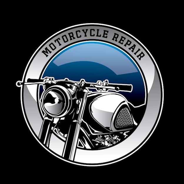 Motorrad-logo hintergrund Kostenlosen Vektoren