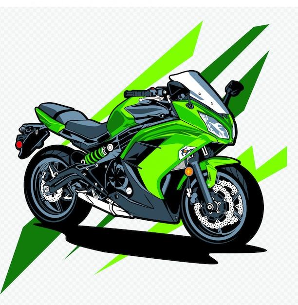 Motorrad Premium Vektoren