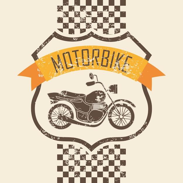 Motorraddesign über rosa hintergrundvektorillustration Premium Vektoren