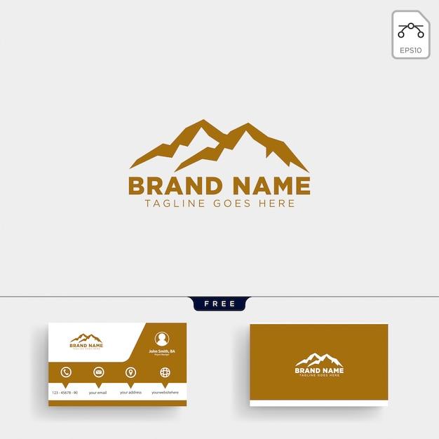 Mountain Initiale M Logo Vorlage Und Visitenkarte Design