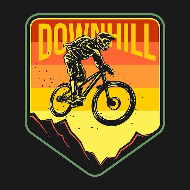 Mountainbike-abzeichen Premium Vektoren