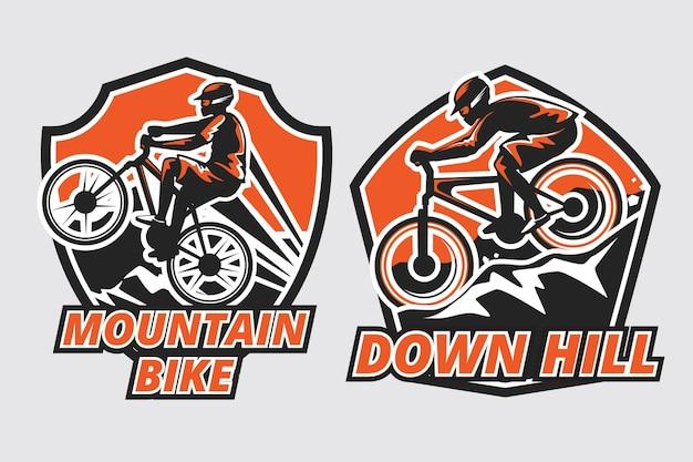 Mountainbike-logo-vorlage Kostenlosen Vektoren