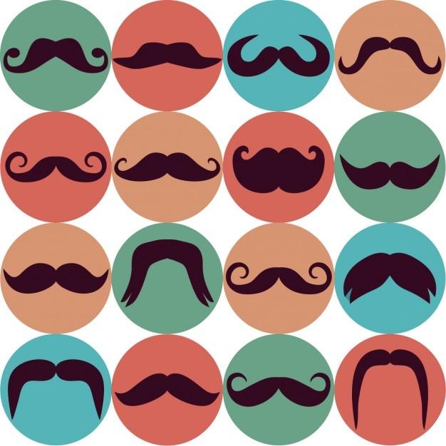 Moustache hintergrund Kostenlosen Vektoren