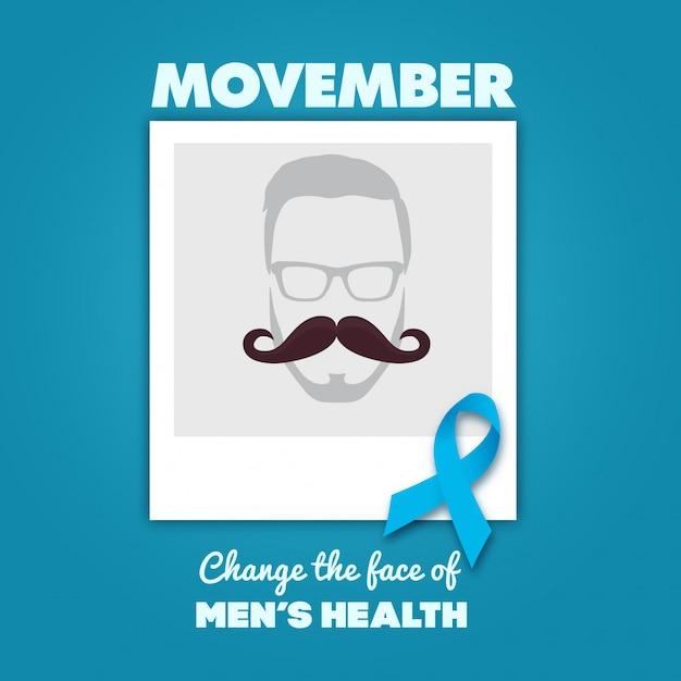 Movember design Premium Vektoren