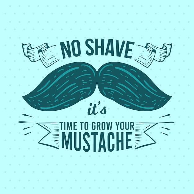 Movember-designhintergrund mit dem schnurrbart Kostenlosen Vektoren