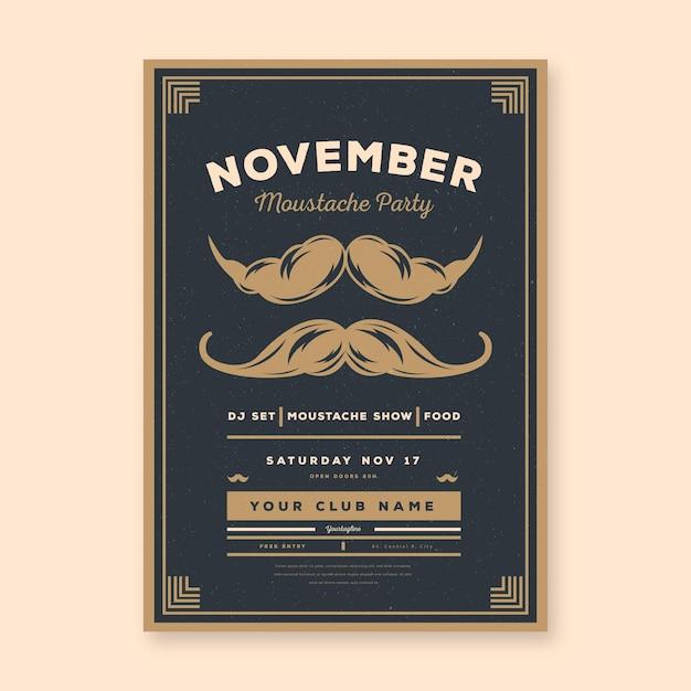Movember flyer / poster Kostenlosen Vektoren