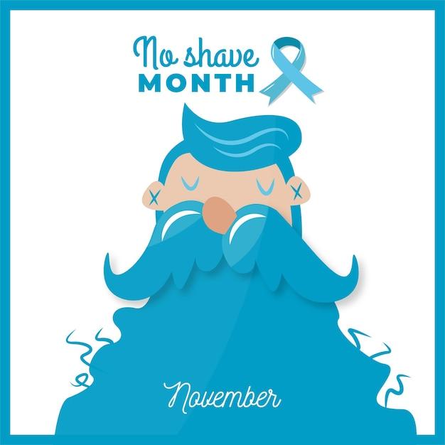 Movember hintergrund Kostenlosen Vektoren