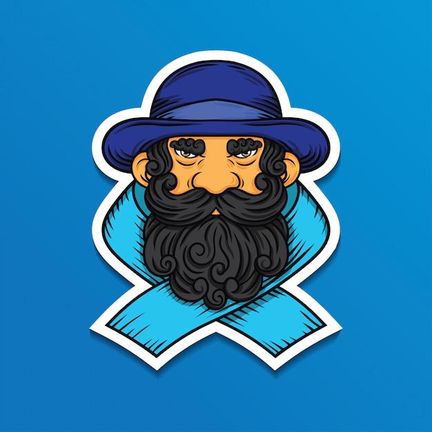 Movember mann abbildung Premium Vektoren