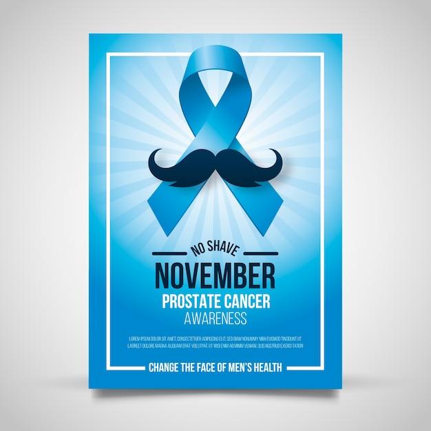Movember-Plakat Kostenlose Vektoren