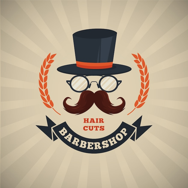 Movember-schnurrbartbewusstseinshintergrund im flachen design Kostenlosen Vektoren