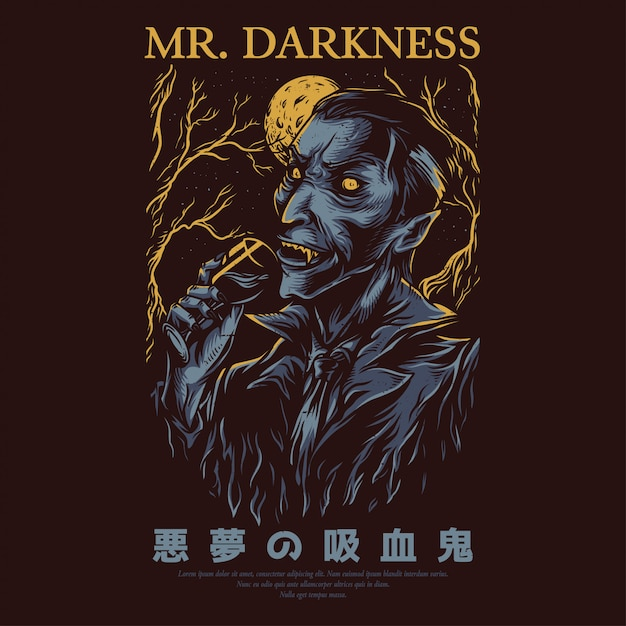 Mr. darkness Premium Vektoren