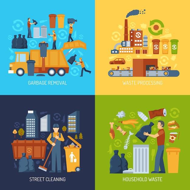 Müll wohnung konzept Kostenlosen Vektoren
