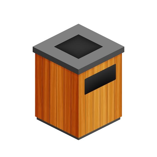 Mülleimer im park-symbol. abfallbehälter isoliert Premium Vektoren