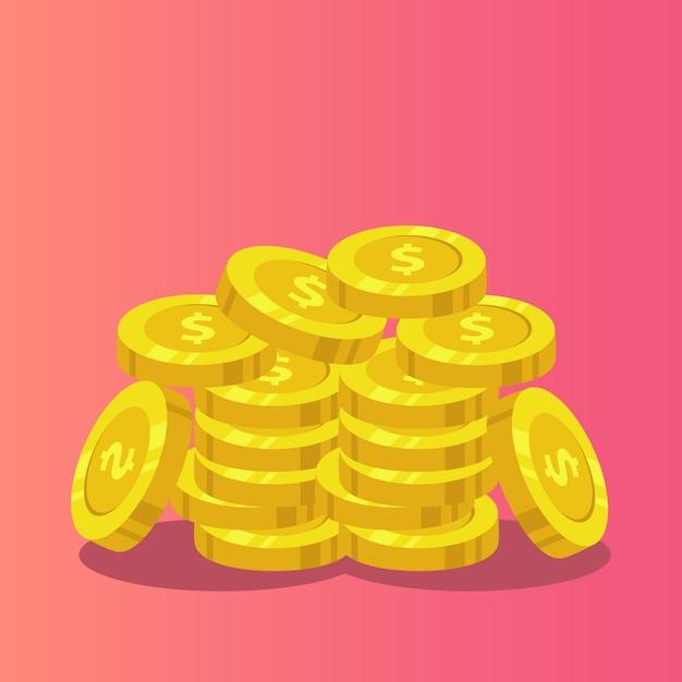 Münzen vorlage setzen. Premium Vektoren