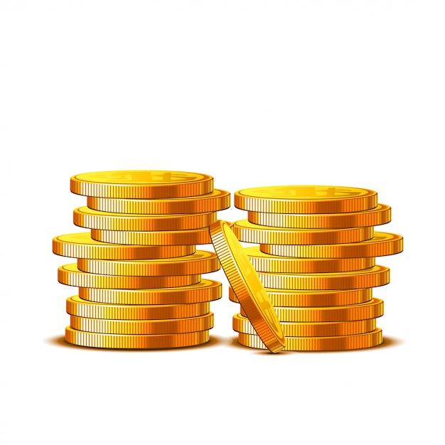 Münzen Premium Vektoren
