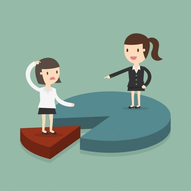 Mujeres de negocios en un gráfico Kostenlosen Vektoren