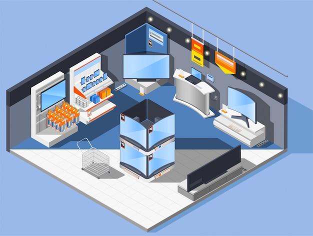 Multimedia-appliance-store-zusammensetzung Kostenlosen Vektoren