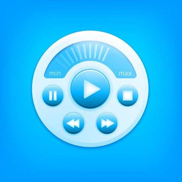 Multimedia-player-panel-design Kostenlosen Vektoren