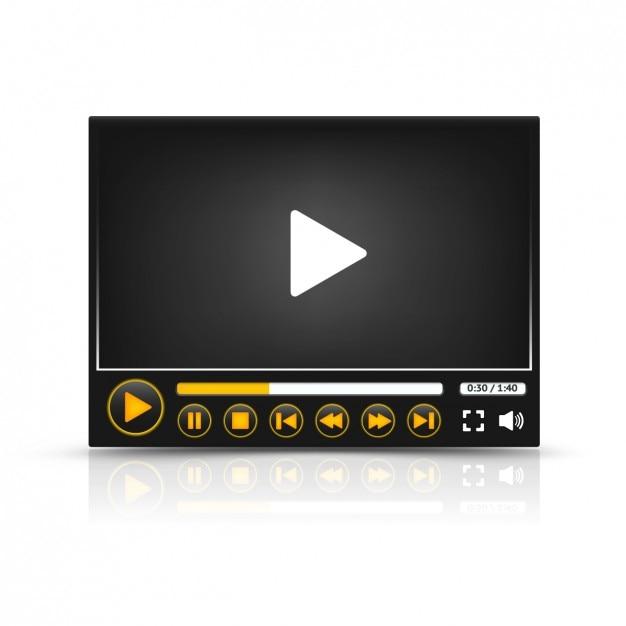 Multimedia-player Kostenlosen Vektoren