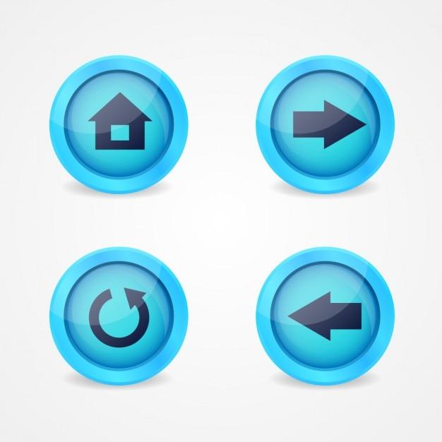 Multimedia-tasten-design Kostenlosen Vektoren