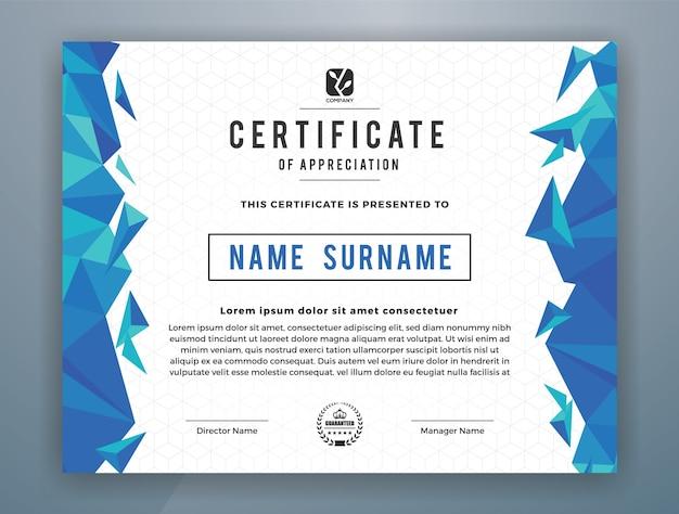 Multipurpose modern professional certificate vorlage design für print. vektor-illustration Premium Vektoren