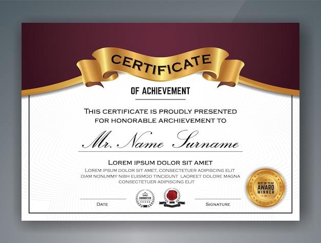 Multipurpose professional zertifikat vorlage design Premium Vektoren