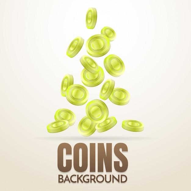 Münzen Hintergrund Vorlage Vektor für Banner   Download der Premium ...