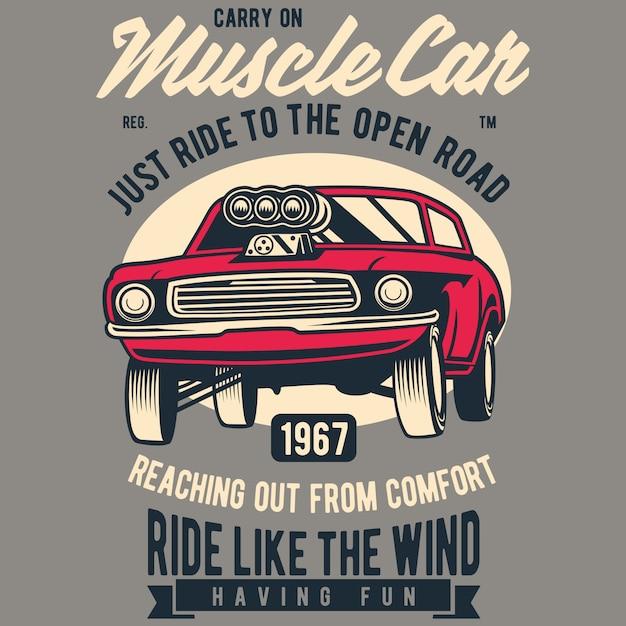 Muscle car Premium Vektoren