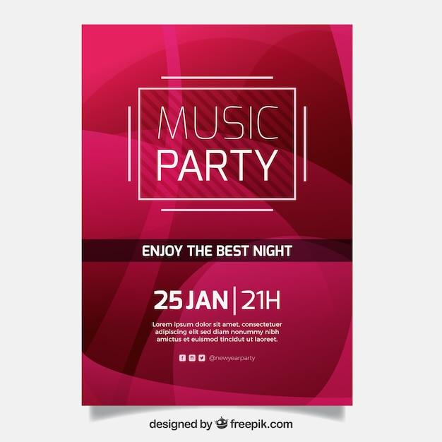 Musik Broschüre Design | Download der kostenlosen Vektor