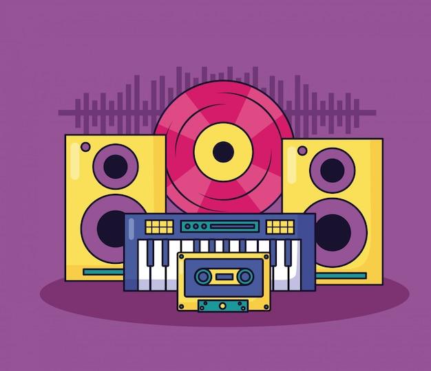 Musik bunte illustration Kostenlosen Vektoren