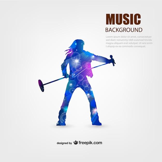 Musik darsteller vektor hintergrund Kostenlosen Vektoren