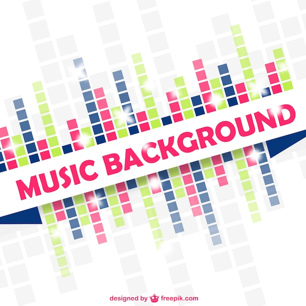 Musik-equalizer vektor-bunte design Kostenlosen Vektoren