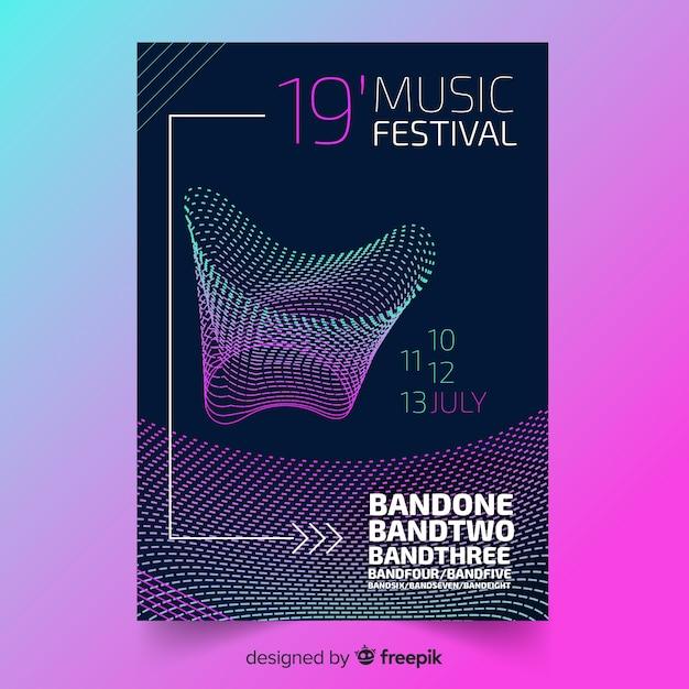 Musik festival plakat vorlage Kostenlosen Vektoren