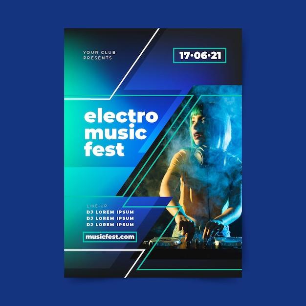 Musik festival poster vorlage Kostenlosen Vektoren