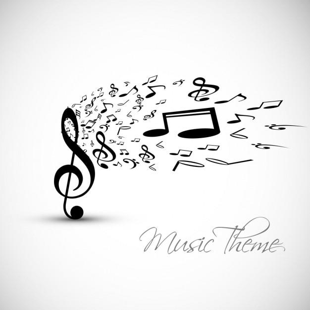 Musik-hintergrund Kostenlosen Vektoren