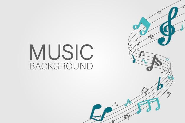 Musik hintergrund Kostenlosen Vektoren