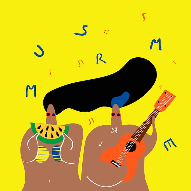 Musik im sommer Kostenlosen Vektoren