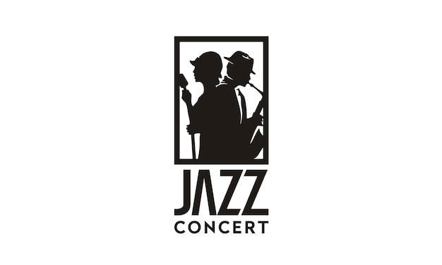 Musik jazz logo design inspiration Premium Vektoren