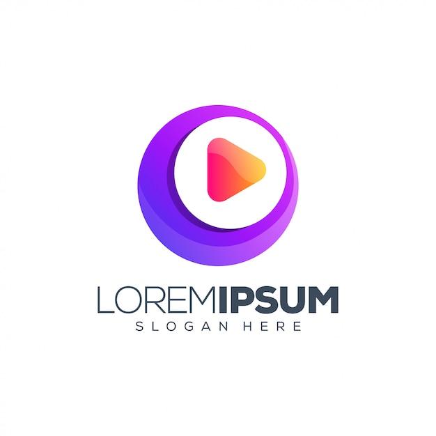 Musik-medien-logo-design Premium Vektoren