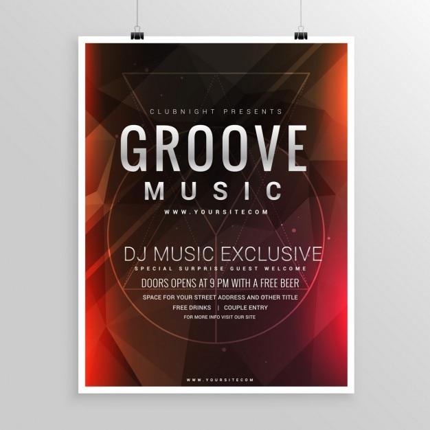 Musik-party-flyer poster event-vorlage Kostenlosen Vektoren